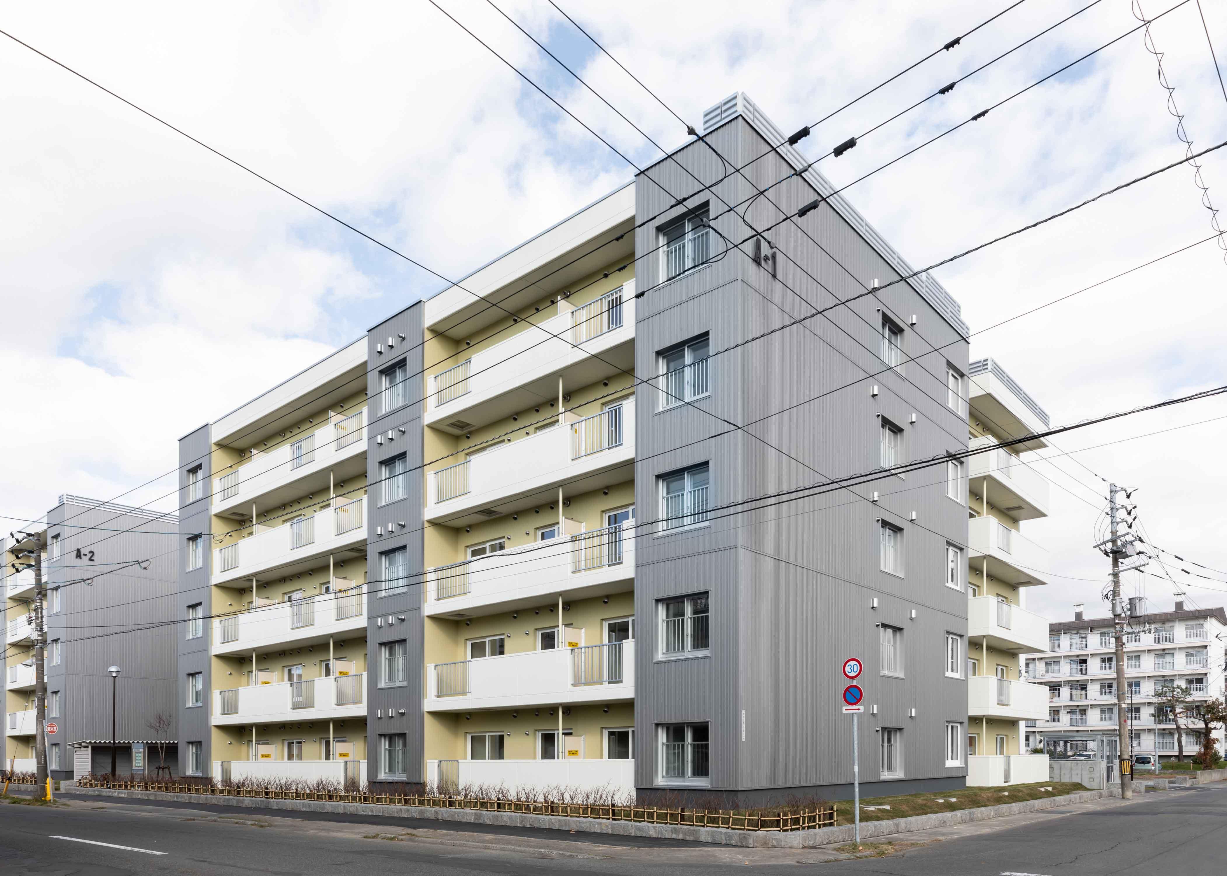 市営住宅(伏古団地建替1 号棟)新築工事(主体工事)